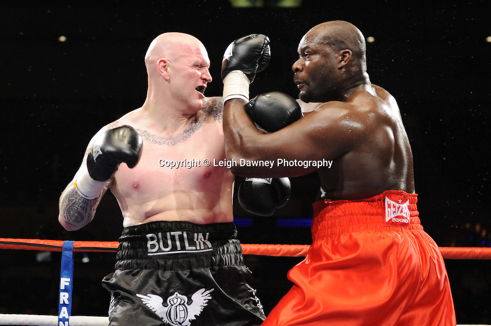 """Larry Olubamiwo defeats Paul Butlin at the Echo Arena, Lverpool,11th December 2010,Frank Warren.tv Promotions """"Return Of The Magnificent Seven"""" © Photo Leigh Dawney"""