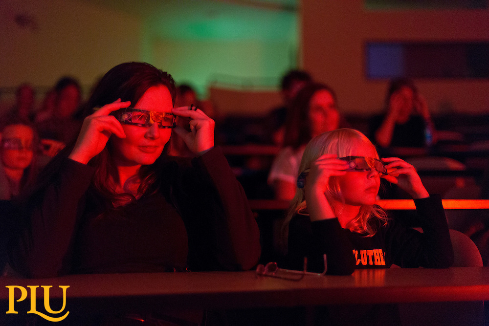 Physics demos at PLU on Friday, Sept. 26, 2014. (Photo/John Froschauer)