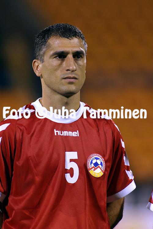08.09.2004, Republica Stadium, Erevan, Armenia..FIFA World Cup 2006 Qualifying Match, .Armenia v Finland.Artur Mkrtchyan - Armenia.©Juha Tamminen.....ARK:k