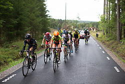 Romy Kasper (GER) of Ale-Cipollini Cycling Team leads the break after the first gravel section in the Crescent Vargarda - a 152 km road race, starting and finishing in Vargarda on August 13, 2017, in Vastra Gotaland, Sweden. (Photo by Balint Hamvas/Velofocus.com)