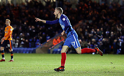 George Cooper of Peterborough United celebrates after scoring on his debut to make it 2-0 - Mandatory by-line: Joe Dent/JMP - 20/01/2018 - FOOTBALL - ABAX Stadium - Peterborough, England - Peterborough United v Oldham Athletic - Sky Bet League One
