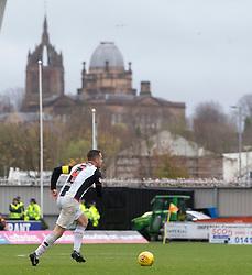 St Mirren Stephen McGinn  during the Ladbrokes Scottish Premier League match at St Mirren Park, St Mirren.