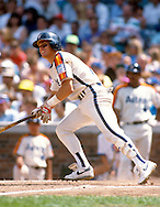 CHICAGO - UNDATED:  Craig Biggio of the Houston Astros bats during an MLB game versus the Chicago Cubs at Wrigley Field in Chicago, Illinois.  Biggio played for the Astros from 1988-2007.  (Photo by Ron Vesely)  Subject:  Craig Biggio