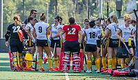 BLOEMENDAAL   -  teambespreking Victoria.  oefenwedstrijd dames Bloemendaal-Victoria, te voorbereiding seizoen 2020-2021.   COPYRIGHT KOEN SUYK