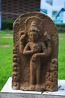 A stone statue of a Hindu goddess at My Son Sanctuary, Qang Name Province, Vietnam