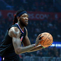30 November 2017: LA Clippers forward Montrezl Harrell (5) is seen during the Utah Jazz 126-107 victory over the LA Clippers, at the Staples Center, Los Angeles, California, USA.
