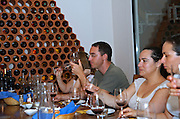 Israel, Judea Hills, wine tasting at Tzora winery
