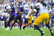FORT WORTH, TX - SEPTEMBER 13:  Trevone Boykin #2 of the TCU Horned Frogs drops back to pass against the Minnesota Golden Gophers on September 13, 2014 at Amon G. Carter Stadium in Fort Worth, Texas.  (Photo by Cooper Neill/Getty Images) *** Local Caption *** Trevone Boykin