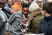 Theo Walcott(14) of Arsenal arriving at the Vitality Stadium before the Premier League match between Bournemouth and Arsenal at the Vitality Stadium, Bournemouth, England on 14 January 2018. Photo by Graham Hunt.