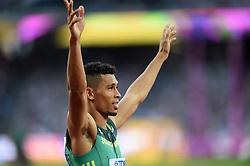 Wayde van Niekerk of South Africa looks on - Mandatory byline: Patrick Khachfe/JMP - 07966 386802 - 06/08/2017 - ATHLETICS - London Stadium - London, England - Men's 400m Semi Final - IAAF World Championships