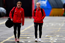 Sophie Baggaley of Bristol City and Flo Allen of Bristol City arrives at Ashton Gate prior to kick off - Mandatory by-line: Ryan Hiscott/JMP - 07/09/2019 - FOOTBALL - Ashton Gate - Bristol, England - Bristol City Women v Brighton and Hove Albion Women - FA Women's Super League