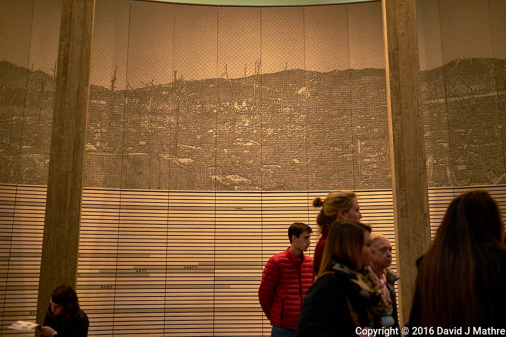 Display of Ground Zero at the Hiroshima Peace Museum. Image 15 of 19 taken with a Fuji X-T1 camera and 23 mm f/1.4 lens (ISO 800, 23 mm, f/1.4, 1/30 sec).