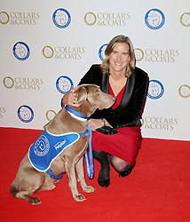 © Licensed to London News Pictures. 07/11/2013.  Katherine Grainger at the Battersea Dogs & Cats Home Collars & Coats Gala Ball at Battersea Evolution, London UK. Photo credit: by Richard Goldschmidt/LNP
