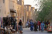 Uzbekistan, Khiva. Women in traditional clothes.