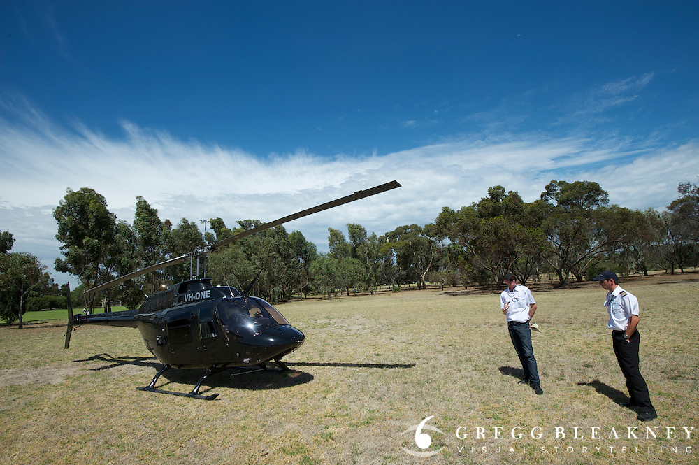 Ultimate VIP Helicopter follow the race package - 2012 Santos Tour Down Under - Adelaide