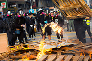 HONG KONG: Sunday 20 October 2019 Violent clashes between pro-democracy demonstrators and riot police continued on Sunday throughout a number of districts in Hong Kong. Hundreds of thousands of protesters marched through the city's streets in defiance of the march being denied permission to take place as demonstrations roll into a 14th week. <br /> Rick Findler / Story Picture Agency
