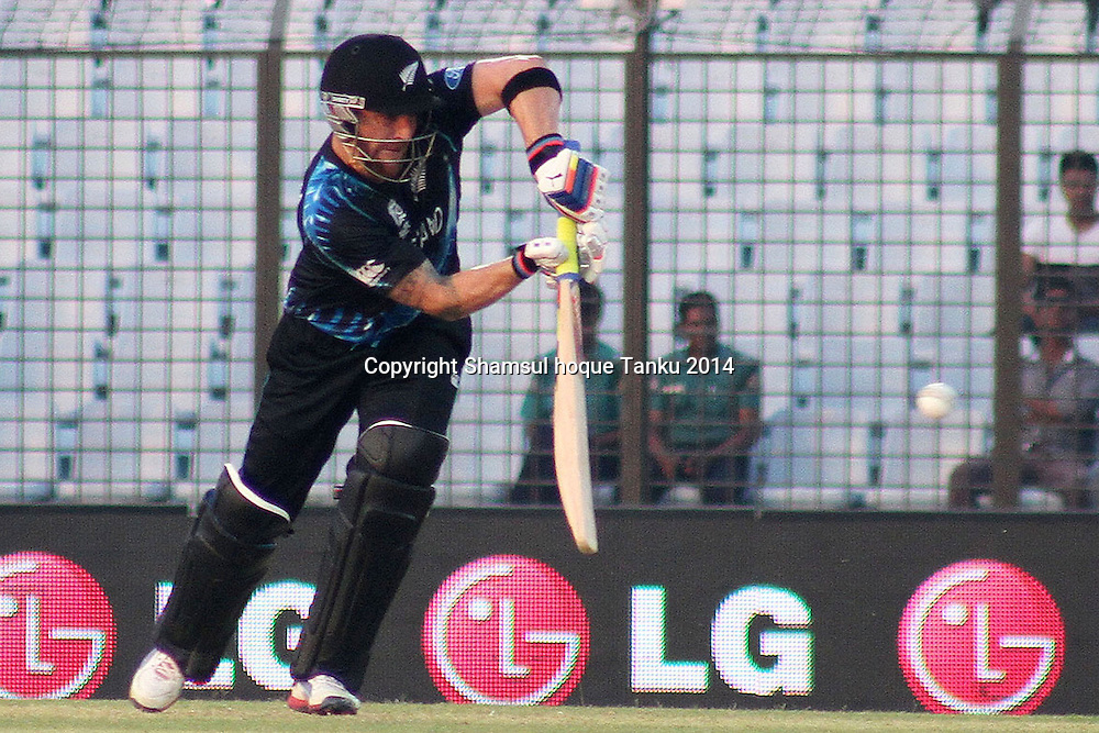 Black Caps captain Brendon McCullum batting - New Zealand Black Caps v Netherlands, Zahur Ahmed Chowdhury Stadium, Chittagong, Bangladesh. ICC World Twenty20 cricket Bangaldesh 2014. 29 March 2014. Photo: Shamsul hoque Tanku/www.photosport.co.nz