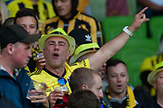 MELBOURNE, VIC - NOVEMBER 09: Wellington fans cheer on at the Hyundai A-League Round 4 soccer match between Melbourne City FC and Wellington Phoenix on November 09, 2018 at AAMI Park in Melbourne, Australia. (Photo by Speed Media/Icon Sportswire)