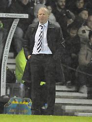 Steve McClaren Manager Derby County, Derby County v Chelsea, Capital One Cup Quarter Final, Score Derby 1(Bryson),  Chelsea 3 (Hazard, Luis, Schurrle) Pride Park Tuesday 16th December 2014