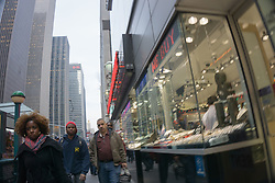 Midtown Manhattan street scene