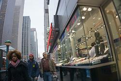 Midtown Manhattan street scene