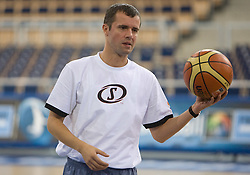 Assistant coach of Slovenia Miro Alilovic during the practice session, on September 11, 2009 in Arena Lodz, Hala Sportowa, Lodz, Poland.  (Photo by Vid Ponikvar / Sportida)