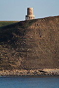 The Clavell Tower on the cliffs above Kimmeridge Bay, Dorset, UK.