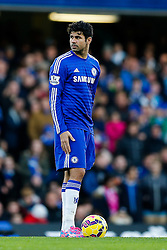 Mikel John Obi of Chelsea looks on before taking the kick off - Photo mandatory by-line: Rogan Thomson/JMP - 07966 386802 - 13/12/2014 - SPORT - FOOTBALL - London, England - Stamford Bridge - Chelsea v Hull City - Barclays Premier League.