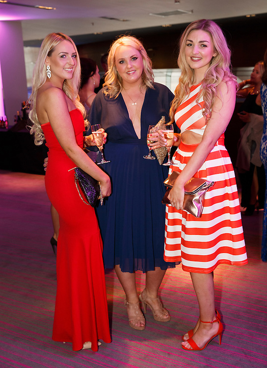 BNO Maggie's Spring Ball at Radisson Hotel Glasgow. L to R :  Hazel McKinley, Lisa Donnelly and Kate Flannigan. Picture Robert Perry for The Herald and  Evening Times 23rd April 2016<br /> <br /> Must credit photo to Robert Perry<br /> <br /> FEE PAYABLE FOR REPRO USE<br /> FEE PAYABLE FOR ALL INTERNET USE<br /> www.robertperry.co.uk<br /> NB -This image is not to be distributed without the prior consent of the copyright holder.<br /> in using this image you agree to abide by terms and conditions as stated in this caption.<br /> All monies payable to Robert Perry<br /> <br /> (PLEASE DO NOT REMOVE THIS CAPTION)<br /> This image is intended for Editorial use (e.g. news). Any commercial or promotional use requires additional clearance. <br /> Copyright 2016 All rights protected.<br /> first use only<br /> contact details<br /> Robert Perry     <br /> 07702 631 477<br /> robertperryphotos@gmail.com<br />         <br /> Robert Perry reserves the right to pursue unauthorised use of this image . If you violate my intellectual property you may be liable for  damages, loss of income, and profits you derive from the use of this image.