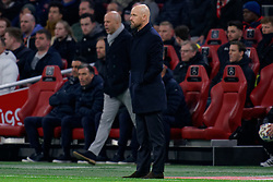 Coach Erik ten Hag of Ajax during the Dutch Eredivisie match round 25 between Ajax Amsterdam and AZ Alkmaar at the Johan Cruijff Arena on March 01, 2020 in Amsterdam, Netherlands
