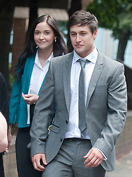 Tony Discipline EastEnders star leaves at Southwark Crown Court today after being acquitted on assault and GBH charges. He left with his real life girlfriend Jaqueline Jossa, who plays Lauren Branning in EastEnders, He plays Tyler Moon in the EastEnders soap opera on BBC. He arrived with family members believed to be his parents, Tuesday August 14, 2012. Pic by Gavin Rodgers/i-Images