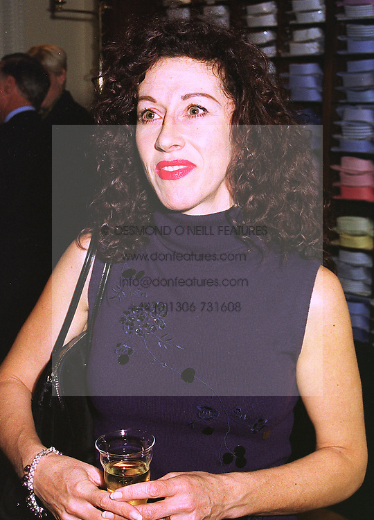 Designer HELEN DAVID, at a party in London on 14th October 1998.MKU 16