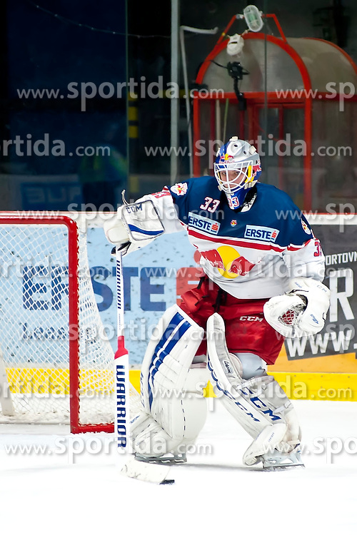 17.11.2015, Ice Rink, Znojmo, CZE, EBEL, HC Orli Znojmo vs EC Red Bull Salzburg, 21. Runde, im Bild Luka Gracnar (EC Red Bull Salzburg ) // during the Erste Bank Icehockey League 21th round match between HC Orli Znojmo and EC Red Bull Salzburg at the Ice Rink in Znojmo, Czech Republic on 2015/11/17. EXPA Pictures © 2015, PhotoCredit: EXPA/ Rostislav Pfeffer