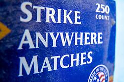 strike friction strip on side of match box
