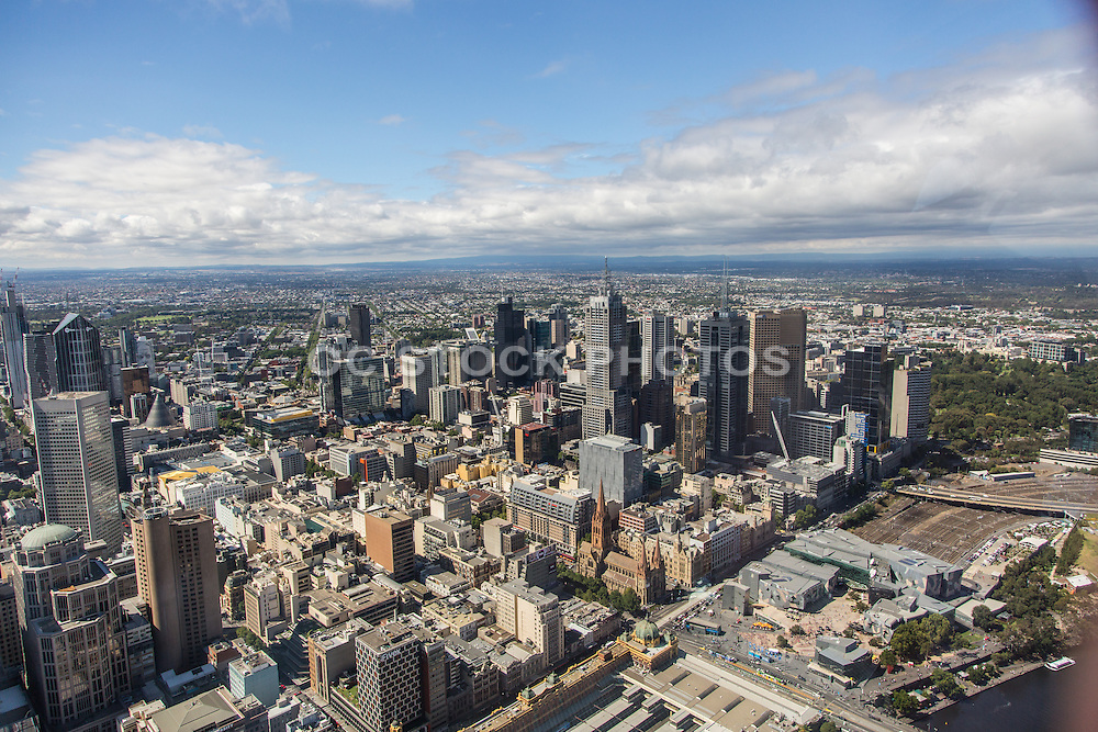 View of Melbourne City from the Eureka Tower