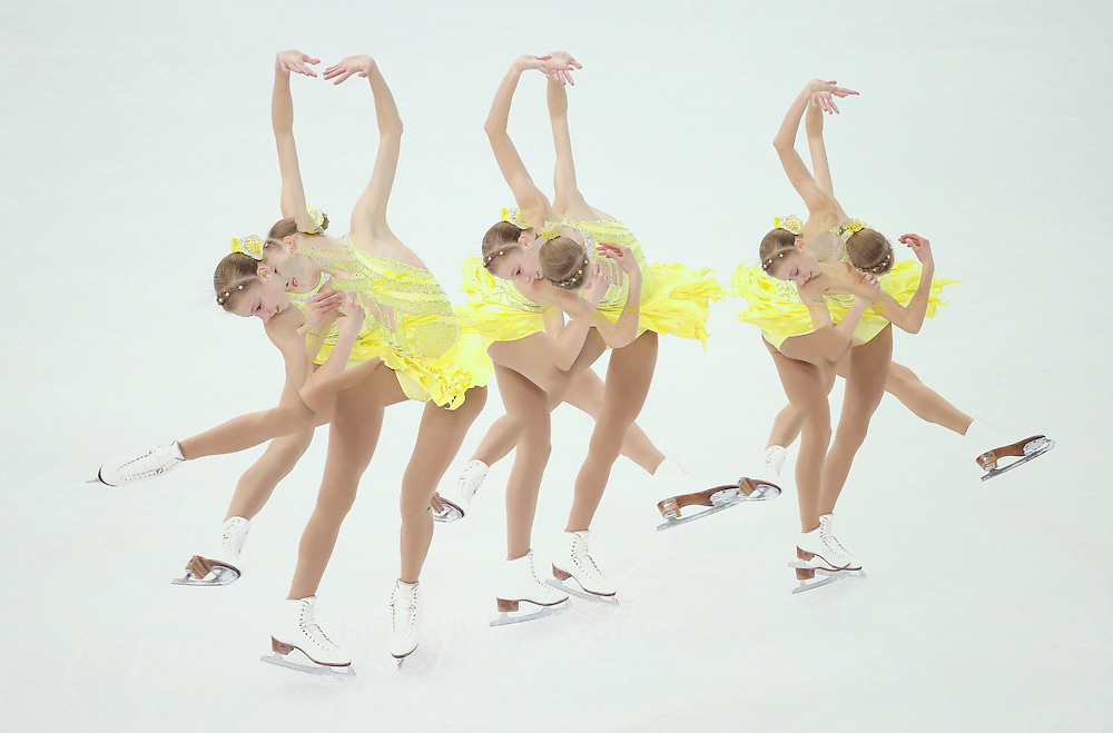 Polina Edmunds of USA performs in the Figure Skating Ladies Short Program at Iceberg Skating Palace during the Sochi 2014 Olympic Games, Sochi, Russia, 19 February 2014.