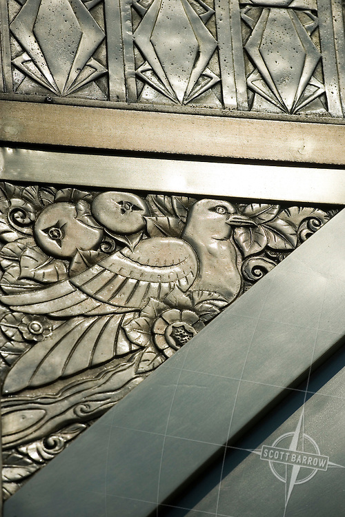 300 Central Park West. Decorative metal work on the facade.