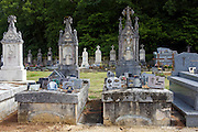 Grave at cemetery graveyard at St Amand de Coly, Dordogne, France
