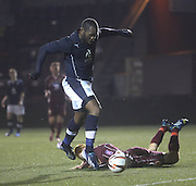 Christian Nade scores his first goal in Dark Blue - Stenhousemuir v Dundee, SPFL Reserve League Cup at Ochilview<br /> <br /> <br />  - &copy; David Young - www.davidyoungphoto.co.uk - email: davidyoungphoto@gmail.com