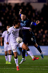 Ollie Clarke of Bristol Rovers contends for the aerial ball with Frankie Raymond of Bromley - Mandatory by-line: Ryan Hiscott/JMP - 19/11/2019 - FOOTBALL - Hayes Lane - Bromley, England - Bromley v Bristol Rovers - Emirates FA Cup first round replay