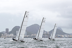 03.08.2016, Marina da Gloria, Rio de Janeiro, BRA, Rio 2016, Olympische Sommerspiele, Training, Segeln 49, im Bild Trainig der 49 Segler // Parctice of Sailin 49 during Trainings of the Sailing 49 before the Rio 2016 Olympic Summer Games at the Marina da Gloria in Rio de Janeiro, Brazil on 2016/08/03. EXPA Pictures © 2016, PhotoCredit: EXPA/ Johann Groder