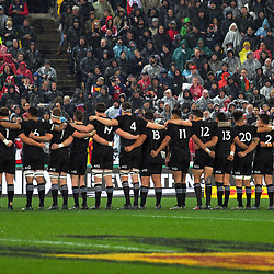 The All Blacks line up before the 2017 DHL Lions Series 2nd test rugby match between the NZ All Blacks and British & Irish Lions at Westpac Stadium in Wellington, New Zealand on Saturday, 1 July 2017. Photo: Dave Lintott / lintottphoto.co.nz