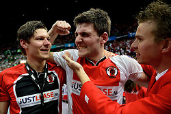 05-04-2014 NED: Korfbal League Finale PKC/Hagero - TOP/Justlease.nl, Rotterdam<br /> In de Rotterdamse Ahoy wint TOP met 22-21 van PKC / Frisco Boode (m)
