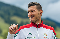 30.05.2016, Forsthofgut, Leogang, AUT, UEFA Euro, Frankreich, Vorbereitung Ungarn, Pressekonferenz, im Bild Adam Pinter (HUN) // Hungarian national team player Adam Pinter during a pressconference at the Trainingscamp of Team Hungary for Preparation of the UEFA Euro 2016 France at the Forsthofgut in Leogang, Austria on 2016/05/30. EXPA Pictures © 2016, PhotoCredit: EXPA/ JFK