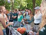 OU's Equestrian Club tries to recruit people during the 2019 Involvement Fair.  Photo by Hannah Ruhoff