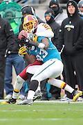 Washington Redskins cornerback DeAngelo Hall (23) breaks up a pass intended for Jacksonville Jaguars wide receiver Jason Harmon (83) in the Redskins game against the Jaguars at EverBank Field on Dec. 26, 2010 in Jacksonville, Fl. ©2010 Scott A. Miller