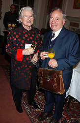 Writers BARONESS JAMES OF HOLLAND PARK and COLIN DEXTER at a party to celebrate the anniversary of the launch of Talking Books held at The Arts Club, 40 Dover Street, London W1 on 8th November 2005.<br /><br />NON EXCLUSIVE - WORLD RIGHTS