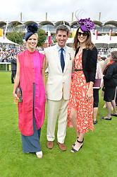 Zoe Warren, Jake Warren and Chloe Herbert at the Qatar Goodwood Festival, Goodwood, West Sussex England. 3 August 2017.<br /> Photo by Dominic O'Neill/SilverHub 0203 174 1069 sales@silverhubmedia.com