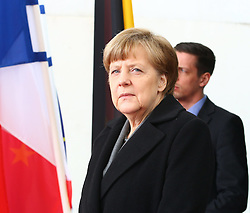 31.03.2015, Bundeskanzleramt, Berlin, GER, SPO, Staatsbesuch, Hollande, im Bild Bundeskanzlerin Angela Merkel (CDU) // POL during the 17th German- French Council of Ministers Bundeskanzleramt in Berlin, Germany on 2015/03/31. EXPA Pictures © 2015, PhotoCredit: EXPA/ Eibner-Pressefoto/ Hundt<br /> <br /> *****ATTENTION - OUT of GER*****
