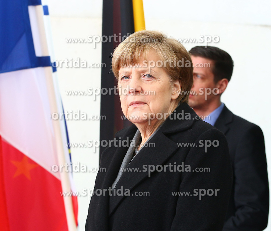 31.03.2015, Bundeskanzleramt, Berlin, GER, SPO, Staatsbesuch, Hollande, im Bild Bundeskanzlerin Angela Merkel (CDU) // POL during the 17th German- French Council of Ministers Bundeskanzleramt in Berlin, Germany on 2015/03/31. EXPA Pictures &copy; 2015, PhotoCredit: EXPA/ Eibner-Pressefoto/ Hundt<br /> <br /> *****ATTENTION - OUT of GER*****